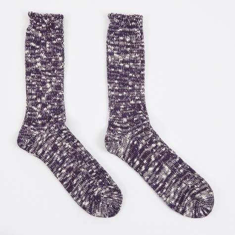 Slub Crew Sock - Purple