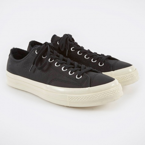 1970s Chuck Taylor All Star Ox Leather/Suede - Black/Eg