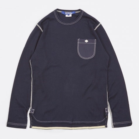 Cotton Cashmere Longsleeve - Navy