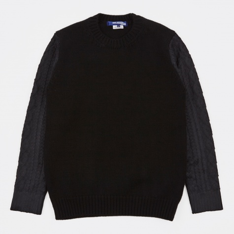 Embossed Knit - Black/Black