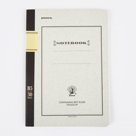 Penco Foolscap Notebook B5 - Black
