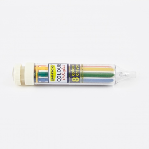 Penco 8 Colour Crayon - Ivory