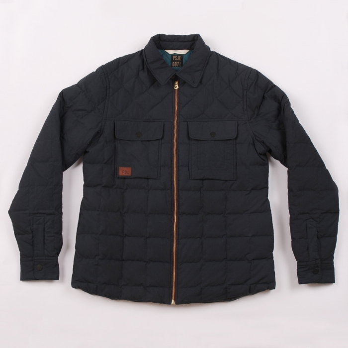 Paul Smith Quilted Shirt Jacket - Navy (Image 1)