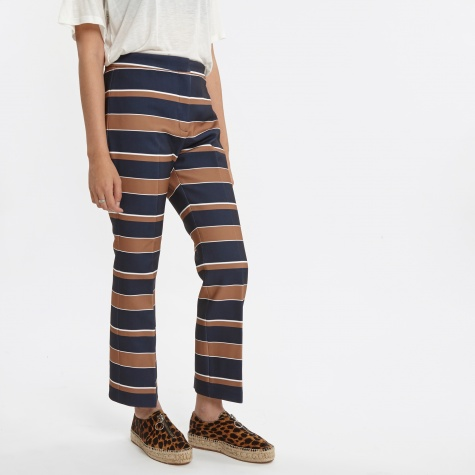 Rita Trousers - Dark Navy Stripe