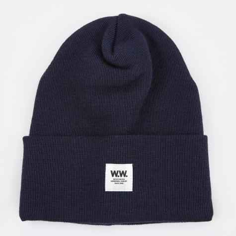 Gerald Tall Beanie - Dark Navy