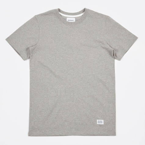 Niels Basic SS T-Shirt - Light Grey Melange