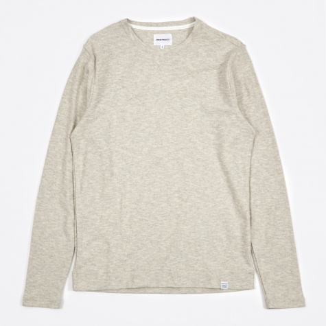 Halfdan Flame Sweat - Light Grey Melange