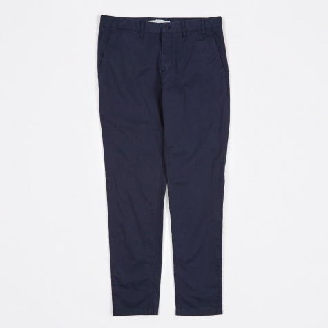 Aros Slim Light Twill Pant - Navy