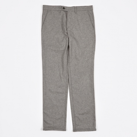 Thomas Slim Light Wool Pant - Light Grey Melange