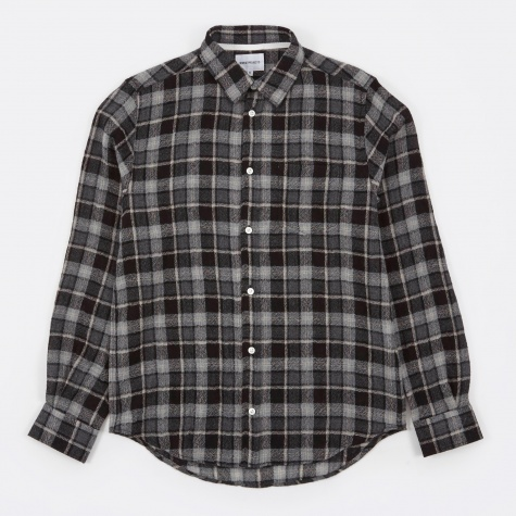 Anton Loose Weave Gauze Shirt - Mouse Grey