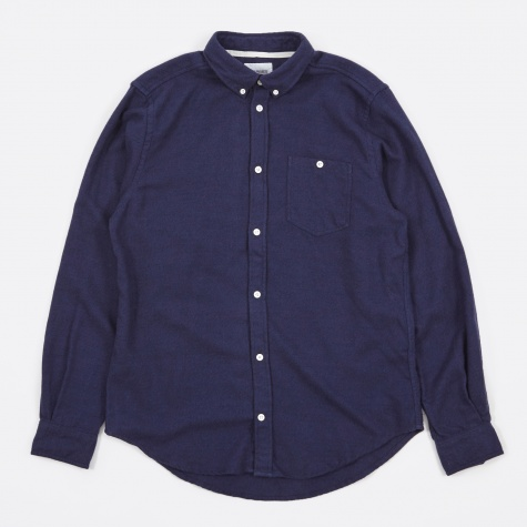 Osvald Brushed Shirt - Navy