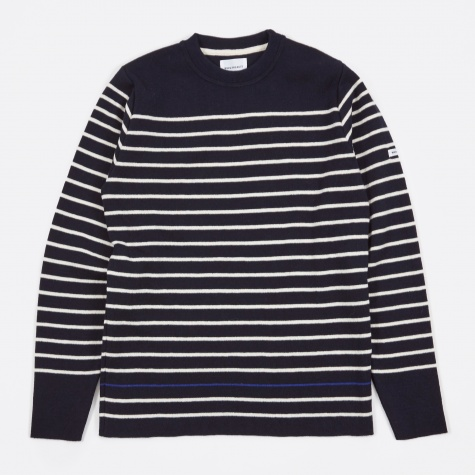 Verner Pure New Wool Knit - Navy
