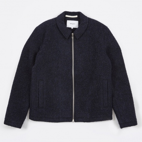 Elliot Melange Wool Fleece Jacket - Light Blue