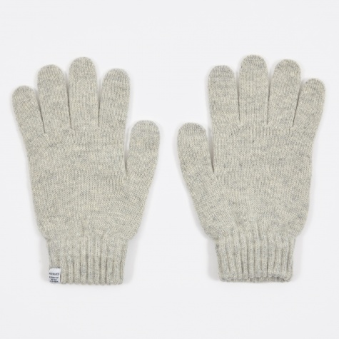 Norse Gloves - Light Grey Melange