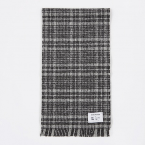 x Johnstons Check Scarf - Grey Check