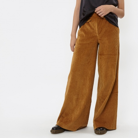 Ande Wide Leg Corduroy Trouser - Tan