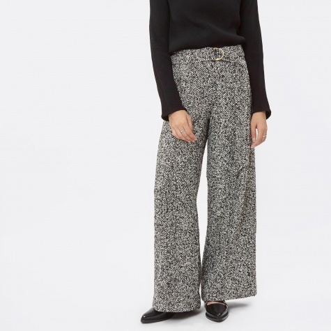 Desna Wide Leg Pant - Black/White