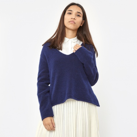 Mies Mohair Trapeze Sweater - Midnight Blue
