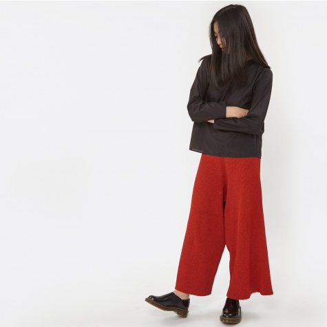 Mosso Knit Culottes - Red Poppy