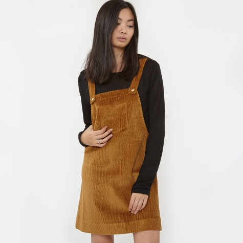 Pampas Corduroy Dungaree Dress - Tan