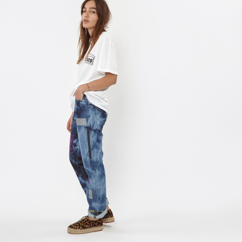 Lilly Jeans Geo Taped Repaired Bleach Denim - Bleach