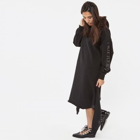 Double Hoodie Dress - Black