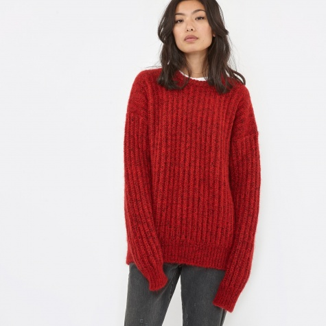 Super Big Crew Knit - Red