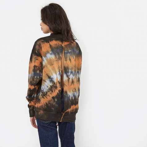 Open Back Sweatshirt - Tie Dye
