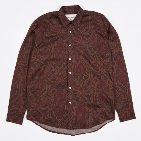 Initial Shirt - Red Paisley