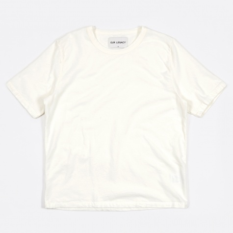 Weaved Tee - Ultimate Flannel White