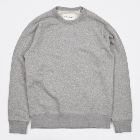 50s Great Sweat - Grey Melange/White Fleece