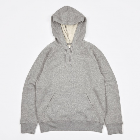 Single Hood - Grey Melange/White Fleece