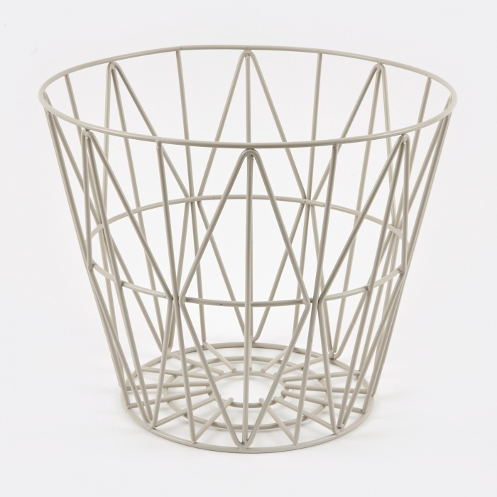 ferm living wire basket grey small. Black Bedroom Furniture Sets. Home Design Ideas