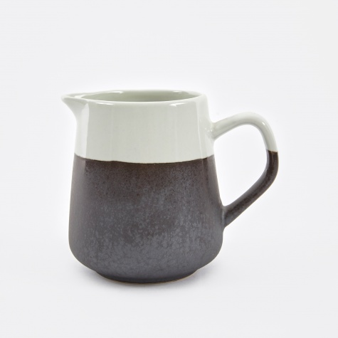 Milk Jug 'Esrum' Stoneware 15cl - Ivory / Grey