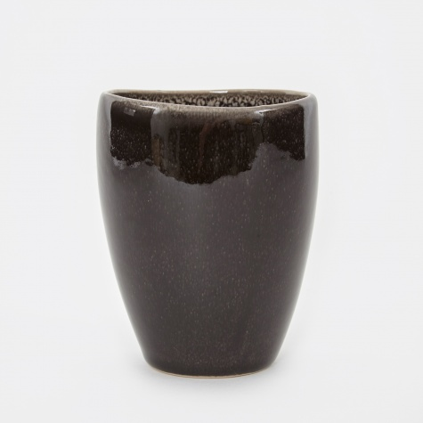 Mug Without Handle 'Nordic Coal' Stoneware - Charcoal