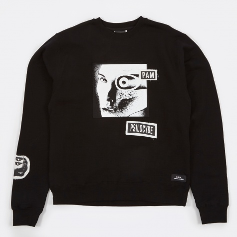 PAM Perks & Mini Psilocybe Patch Sweat - Black