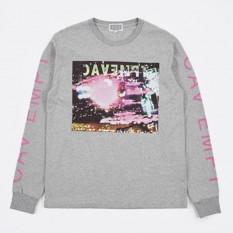Pink Noise Long Sleeve  T-Shirt - Grey