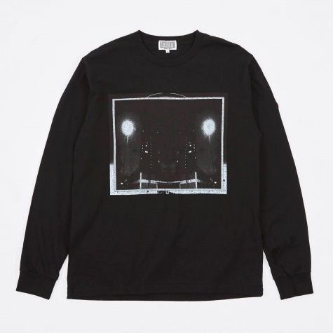 Dark City Long Sleeve  T-Shirt - Black