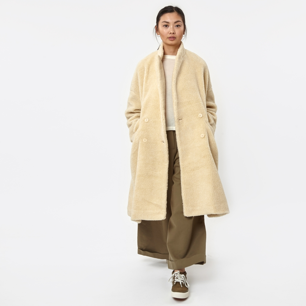 Neul Shearling Faux Fur Coat - Antique White