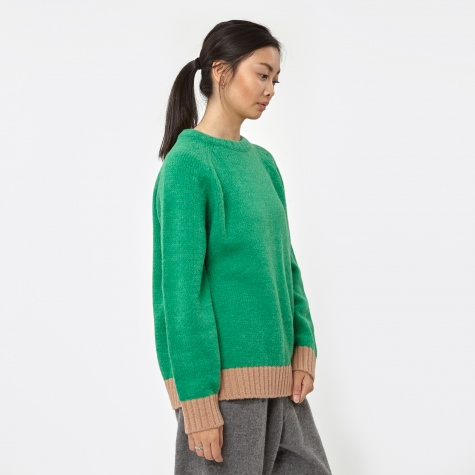 Sweater - Green/Beige