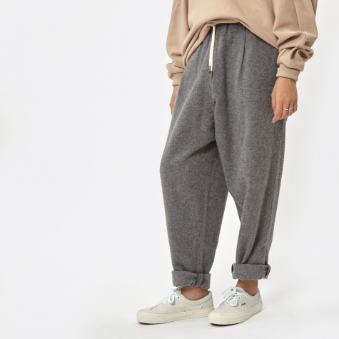 Stretched Wool Comfy Pants - Grey