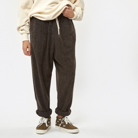 Stretched Wool Comfy Pants - Brown