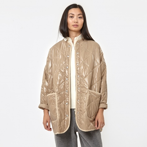 Padded Jacket - Beige/Shine