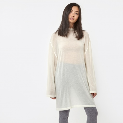 Oversized L/S T-Shirt - Snow White