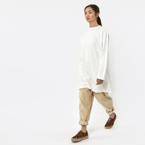 Oversized L/S T-Shirt F - Snow White