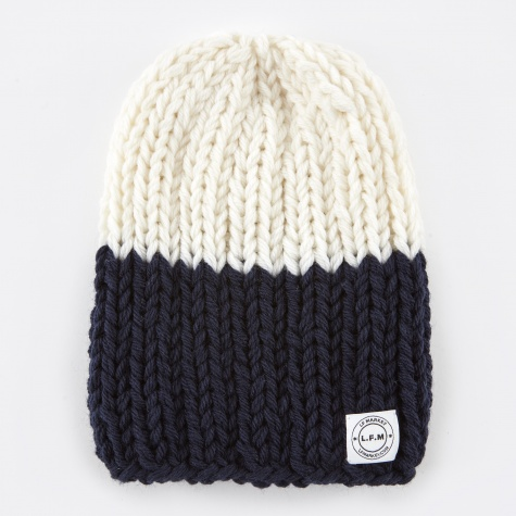 Beanie Two Tone - White/Navy