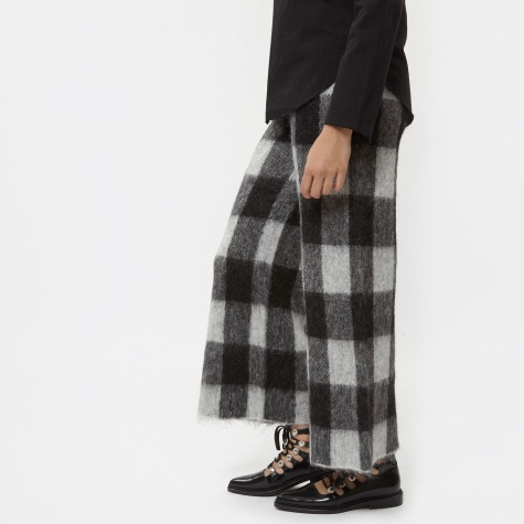 Fundy Culotte Check - Black/Cream