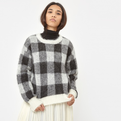 Fundy Sweater Check - Black/Cream