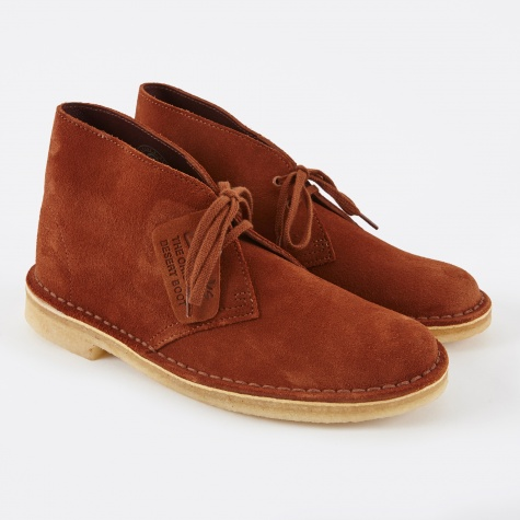 Clarks Desert Boot - Dark Tan Suede