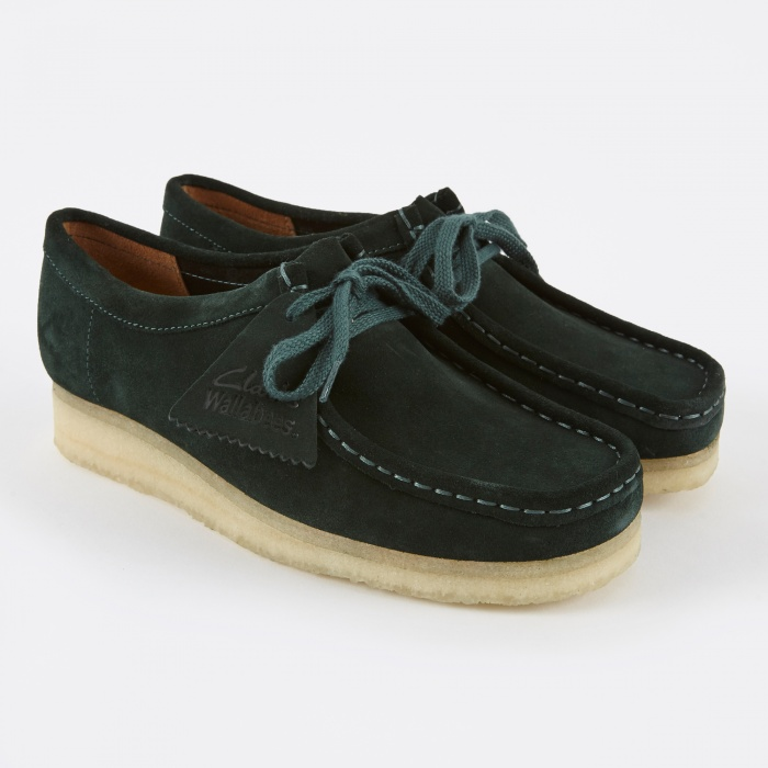 Clarks Originals Clarks Wallabee - Dark Green Suede (Image 1)